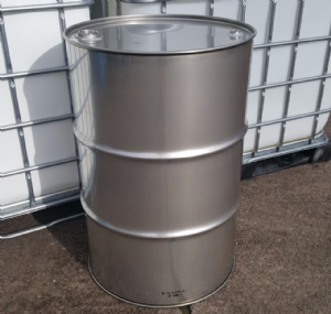 205 Litre New Stainless Steel Tighthead / Twin Bung Drum